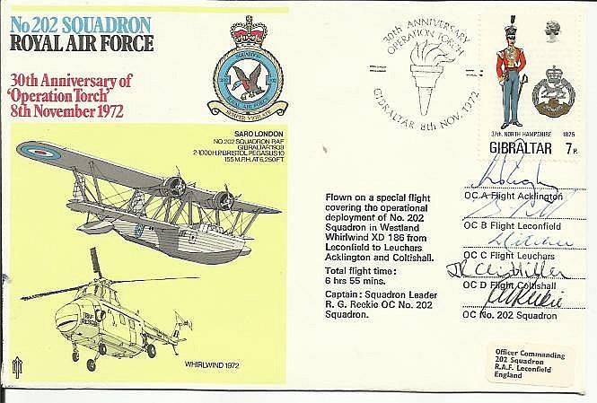 Five Flight commanders signed 202 Squadron Saro
