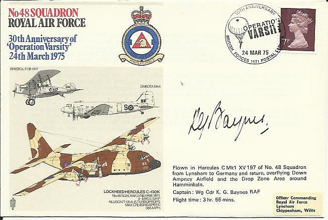 48 Squadron cover comm. 30th ann. Operation