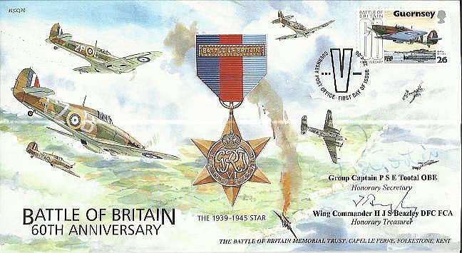 Wg Cdr Beazley 249 Sqn BOB, Grp Capt P Tootal OBE