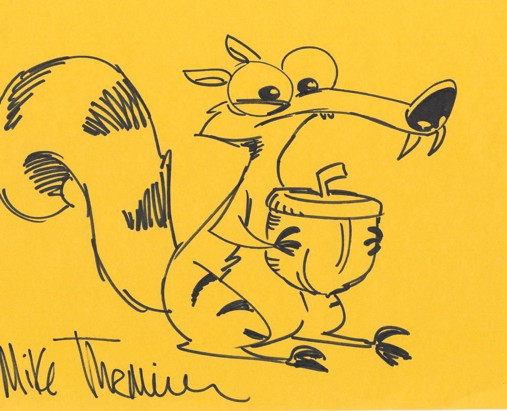 Mike Thurmeier signed 10x8 Animated colour photo.