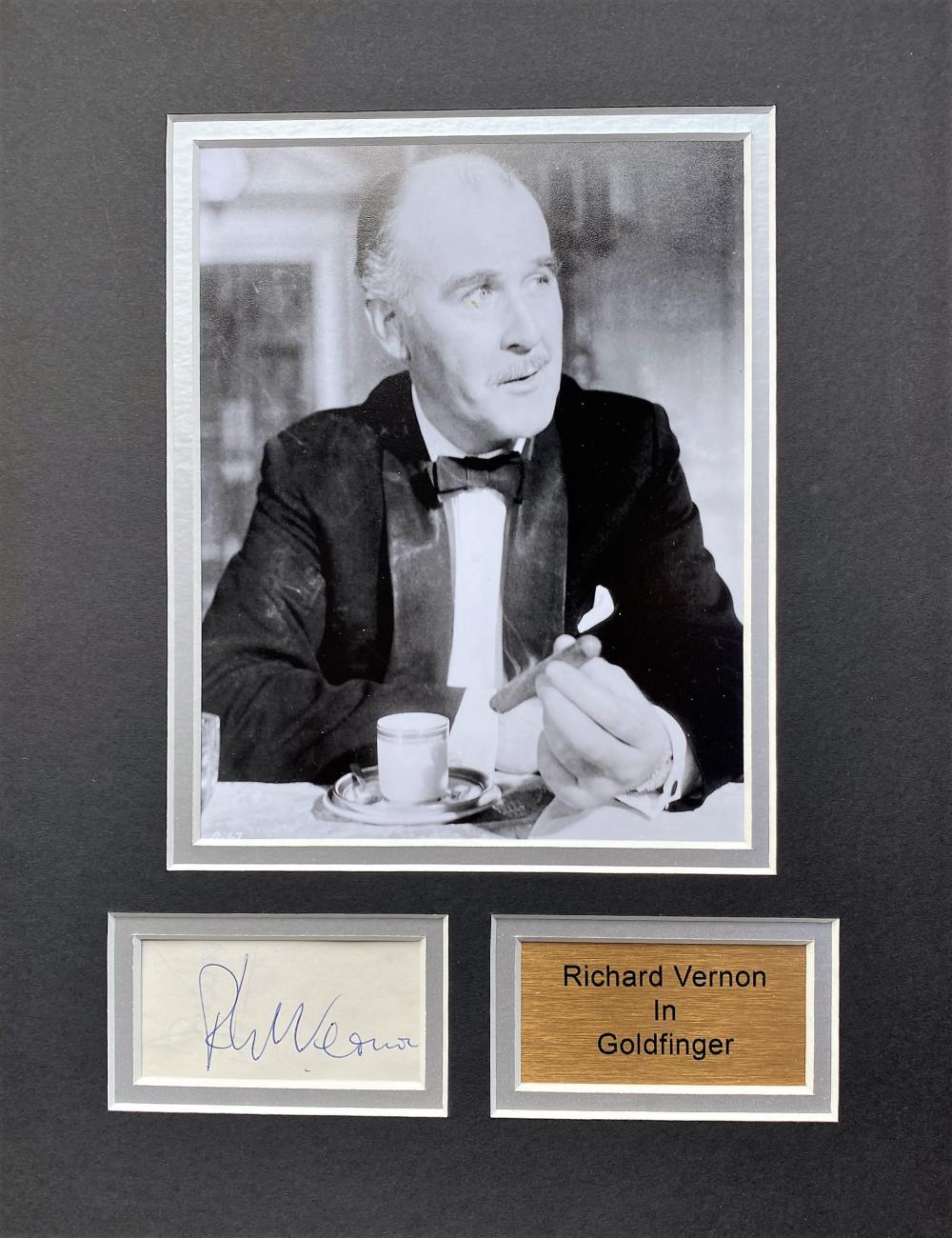 Richard Vernon 13x10 matted signature piece includes signed album page and black and white photo.