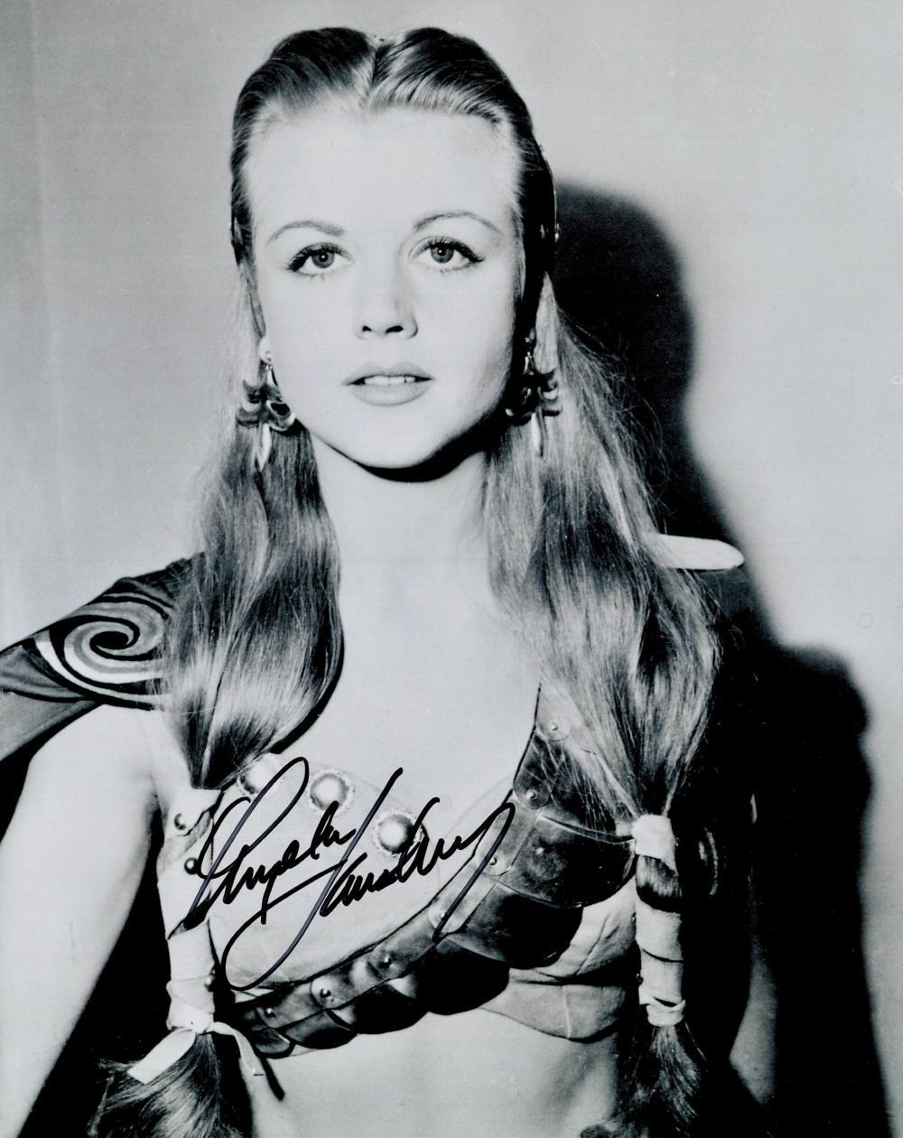 Angela Lansbury signed 10x8 black and white photograph