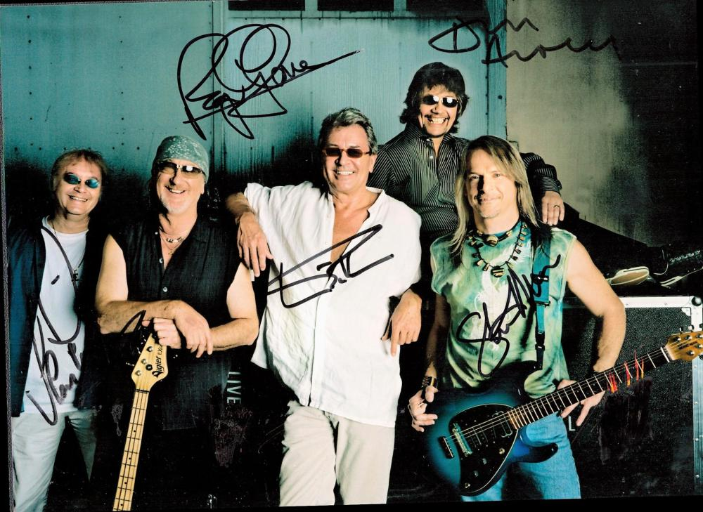 Deep Purple multi-signed 8x6 colour photograph