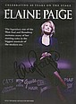 Elaine Page signed colour promo leaflet for 40th ann tour. Mounted to 12 x 8 black card