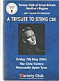 Sting signed 2004 Variety Club tribute to sting evening