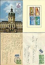 German Postal History small black album dozen