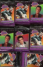 Elvis Presley trade cards, eight packs of 12