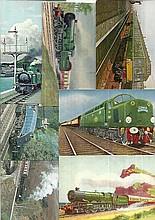 Railway postcards 13 assorted unused postcards,