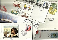 GB First Day Covers nice selection of about 30