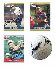 Golf Collection Scott Simpson signed Taylor Made