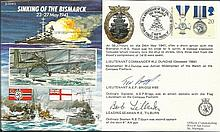 JS/50/41/5c - Sinking of the Bismarck. Signed by