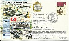 JS/50/41/3c - Evacuation from Greece Signed John