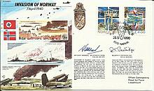 JS/50/40/1c - Invasion of Norway Signed A.C.M. Sir