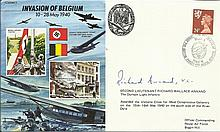 JS/50/40/3c - Invasion of Belgium Signed Richard