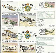 75th Ann RAF flown VIP signed covers in Blue