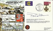 JS/50/42/10c - Operation Jubilee Signed Col. Pat