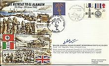 JS/50/42/7c - Retreat to El Alamein Signed Major