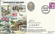 JS/50/41/9c - fall of Hong Kong Signed Capt. Ford