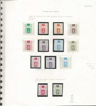 Singapore Postage Dues stamp collection. 23 stamps