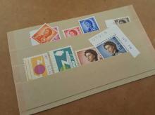 Hong Kong stamp collection. Nine Hong Kong stamps,