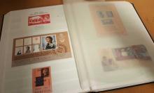 Stamp Sheets Collection. Black Lindner stock book