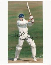 Cricket signed collecction 3 photos.  Signed by Mi