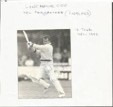 Famous International test Cricketers.  20+ signatu