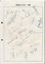 Essex CC signed Cricket Collection.  Assortment of