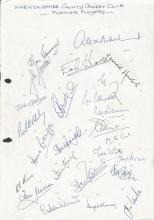 Warwickshire CCC signed Cricket Collection.  Assor