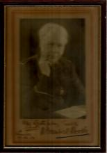 Bramwell Booth signed photo. Sepia 8x6 portrait ph