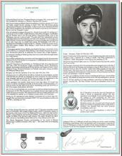 F/O Roland Hammersley signed pilot profile page. T