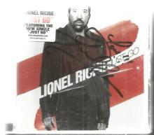 Lionel Richie signed Cd case insert for Just Go.