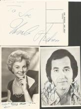 Vintage signed collection. Includes small b/w photos, signature piece and TLS. Some of names included are Eric Sykes, Bill Maynard, Tommy Trinder, Russ Hamilton Elsie and David Waters, Joan Regan, Rosalie Ashley and Ursula Andress and one other. Good condition.