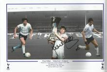 Tottenham Hotspur Footballers Collection. 12 different 8x10 and 8x12 photographs, individually signed by former Spurs footballers. Names include Maurice Norman x2, Alan Mullery, Paul Miller, Aaron Lennon, Cliff Jones, Mark Falco, Tony Galvin and more. Good condition.
