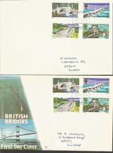 1968 GB Bridges First Day Cover Collection. Thirteen 29th April 1968 British Bridges first day covers a few different variations, plus a couple of Bridges postcards. Good condition.