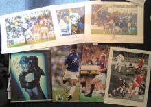 Assorted TV/film/sport/music signed collection. Various sizes. Among the signatures are Peter Martin, Christina Aguilera, Ryan Babel, Samantha Fox, John Conteh, England test squad v India 2011 which includes Kevin Pietersen, Andrew Strauss, Graeme Swann, Scorpion from the 80s show Gladiators, John Hartson, David Fairclough, Dave Kitson, Phil Parkinson, Alan Curbishley, Paul Walsh, Steve Jones, Kevin Beattie. Maybe some duplicates and some dedicated. Good condition.