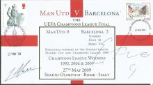 Lionel Messi and Samuel Eto Fils signed Internetstamps official 2009 Man Utd v Barcelona UEFA champions league final FDC. Good condition.