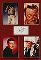 John Wayne Super 1974 Signed Paper Piece. 4 Pics