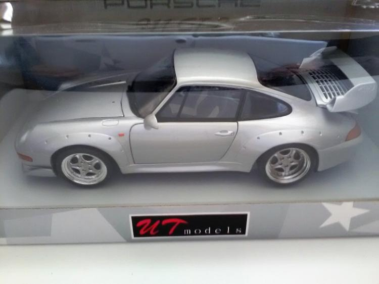 porsche 911 gt2 silver ut models 1 18 die cast model car in. Black Bedroom Furniture Sets. Home Design Ideas