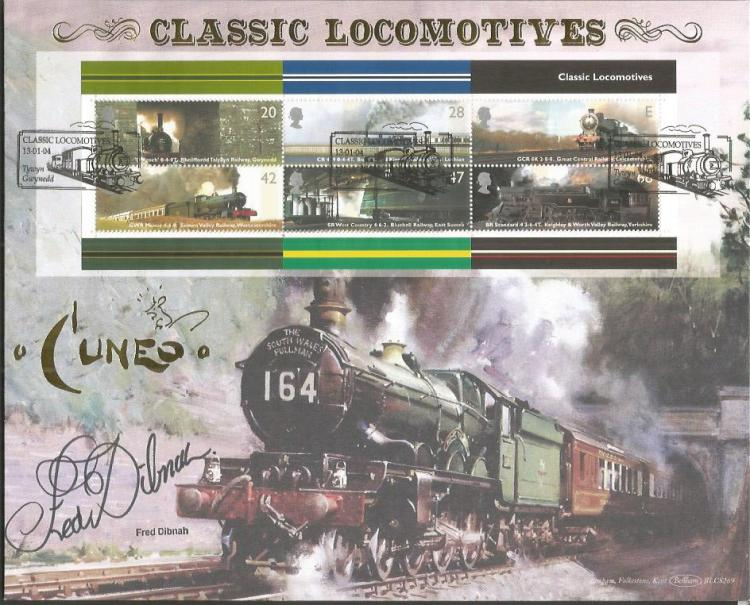 Fred dibnah signed 2004 benham official classic locomotives for Classic house 2004