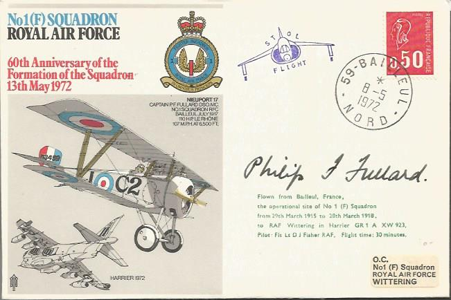 Great War ace Air Commodore Philip Fullard DSO, MC*, AFC sig