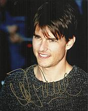 Tom Cruise signed 10 x 8 colour portrait photo.