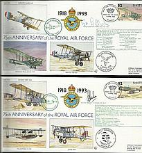 75th Ann RAF VIP signed collection Complete set 30