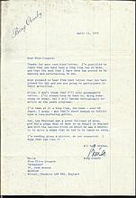 Unusual and rare typed signed letter by Bing