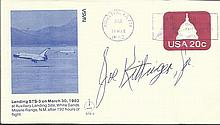 Joe Kittinger Jr signed 1982 STS3 Us Space Shuttle