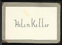 Helen Keller Hand-signed 2.5