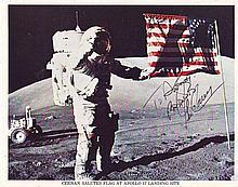 Apollo 17 astronaut Gene Cernan autographed