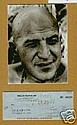 Telly Savalas Signed Cheque Kojak Pic Display.