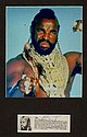Mr T Signed Bio Section and A Team` Image Display.
