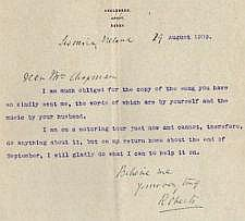 Lord Roberts VC Typed Signed Letter 1909. Good